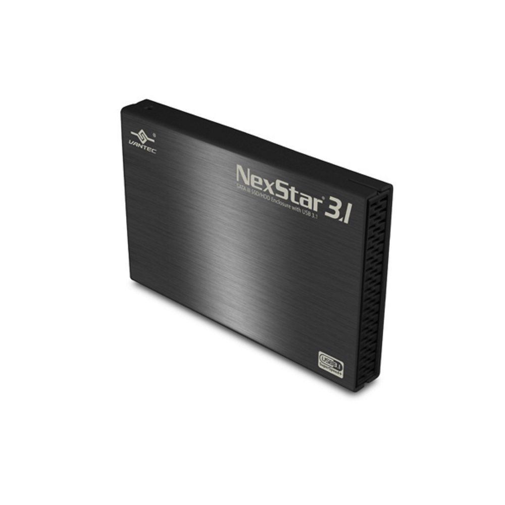 "Vantec 2.5"" SATA 6 Gb/s to USB 3.1 Gen II Type-A SSD/HDD Enclosure-NST-270A31-BK)"