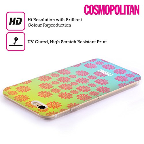 Official Cosmopolitan Ombre 2 Floral Patterns Soft Gel Case for Apple iPhone 5c