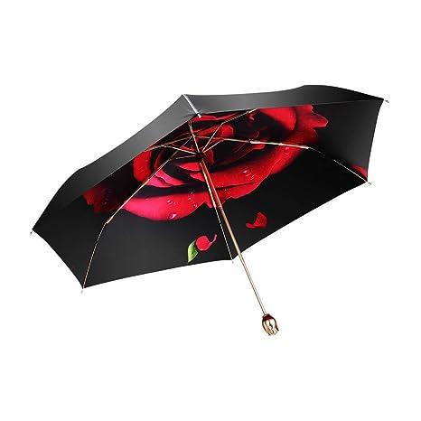 53d5c1115c87 Windproof Red UV Umbrella Compact Umbrellas Ladies Sun Parasol 99% UV Block  Protection Folding Travel UPF 50+