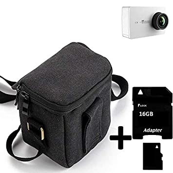 K-S-Trade® Para YI 4K Action Camera Cámara Bolsa Funda De Hombro ...