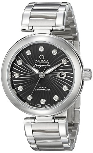Omega Women's 425.30.34.20.51.001 De Ville Ladymatic 34mm Analog Display Swiss Automatic Silver Watch