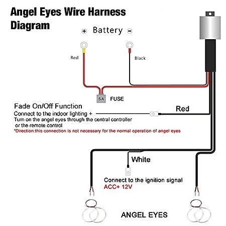 amazon com feeldo relay wiring harness kit for bmw ccfl led angel rh amazon com Car Wiring Harness Wiring Harness Diagram