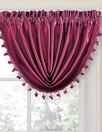 Durable Solid Color Rod Pocket Crinkled Window Treatment