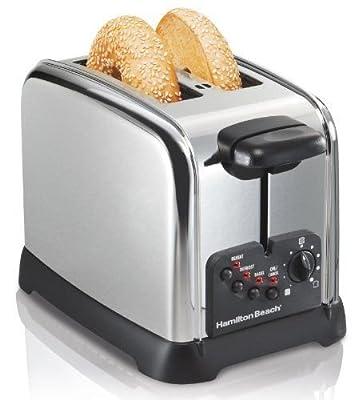 Hamilton Beach Cool Wall 2-Slice Toaster, Chrome by Hamilton Beach Brands, Inc.