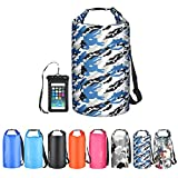 OMGear Waterproof Dry Bag Backpack Waterproof Phone Pouch 40L/30L/20L/10L/5L Floating Dry Sack for Kayaking Boating Sailing Canoeing Rafting Hiking Camping Outdoors Activities (camouflage2, 30L)