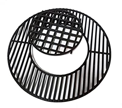 """soldbbq Porcelain-Enameled Cast-Iron Gourmet BBQ System Grate Replacement for 22.5"""" Weber charcoal grills, for Weber 8835"""