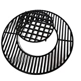 "soldbbq Porcelain-Enameled Cast-Iron Gourmet BBQ System Grate Replacement for 22.5"" Weber charcoal grills, for Weber 8835"