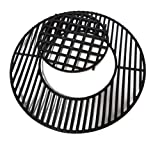 soldbbq Porcelain-Enameled Cast-Iron Gourmet BBQ System Grate Replacement for 22.5' Weber charcoal grills, for Weber 8835