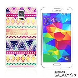 OnlineBestDigital - Geometrical Pattern Hardback Case for Samsung Galaxy S5 - Purple Pink Watercolor Aztec Pattern
