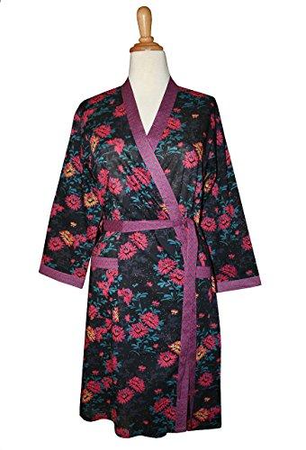 Kimono CLASSIQUE long rosea midnight