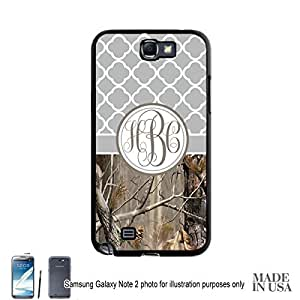 Country Girl Gray Camo Quatrefoil Monogram Case Samsung Galaxy Note 2