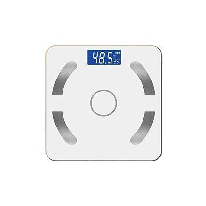 JTHKX Básculas de Peso Saludable Bluetooth Básculas de Grasa Corporal Inteligente Básculas de Equipaje Precisión Hogar