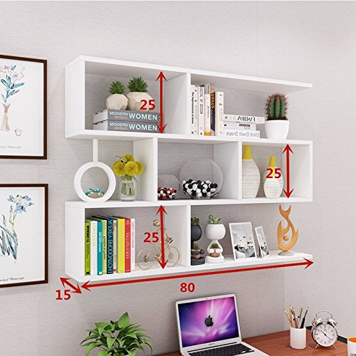 (The wall built-in shelf Wine Rack creative wall mount wall mount restaurant ceiling cabinets living room wall cabinets modern minimalist wall cabinets bookshelves ,801525cm, white)