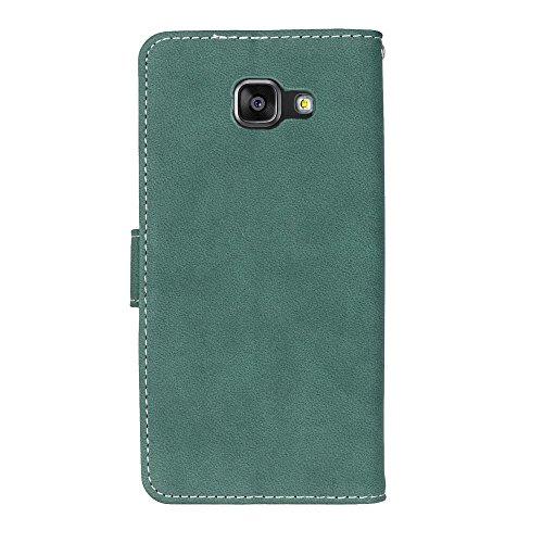 SRY Cartera de cuero de la PU superior con ranura para tarjeta / Stand cubierta de la caja protectora folio del tirón para Samsung Galaxy A7 2016 A710 ( Color : Rose ) Green