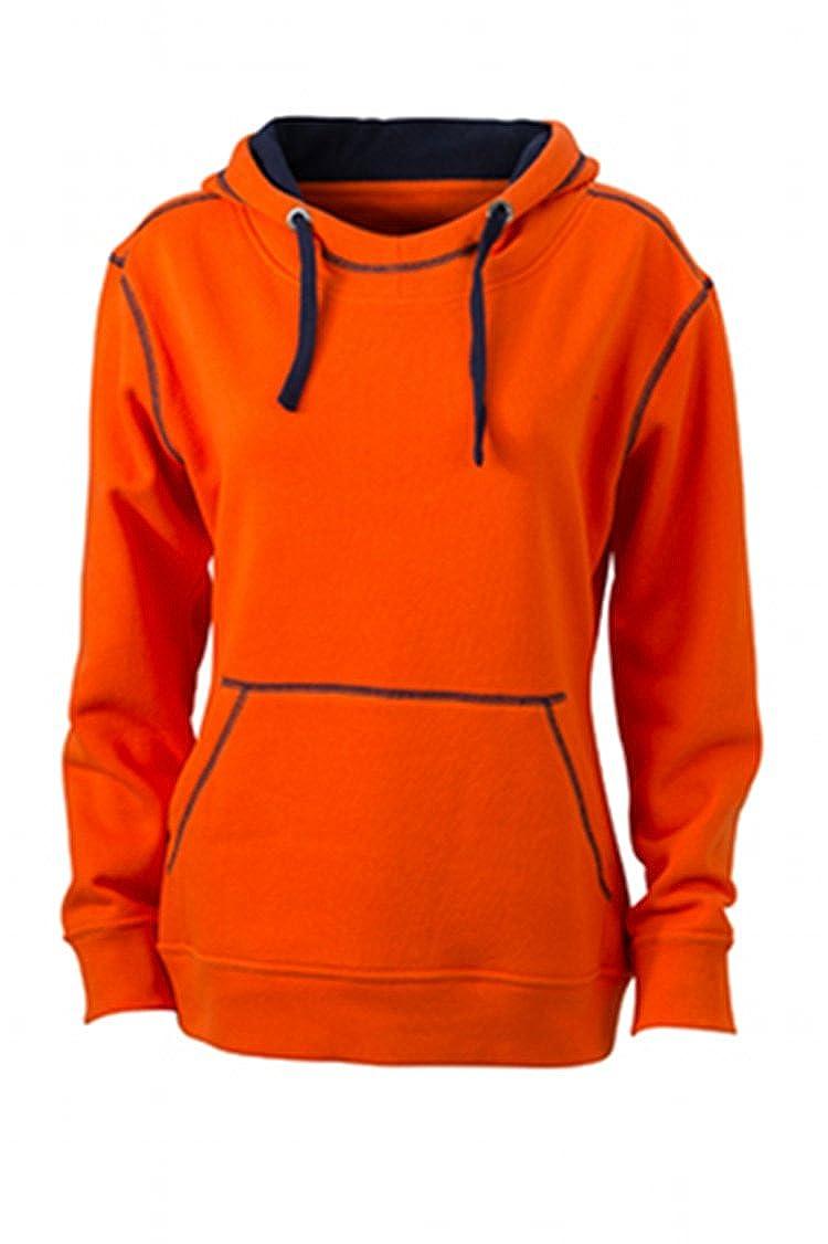 James & Nicholson Kapuzensweatshirt Ladies' Lifestyle Hoody Sudadera, Mujer
