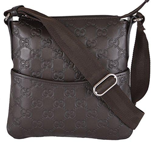 Gucci Mini Brown Leather GG Guccissima Crossbody Day Bag - Handbags Women Gucci