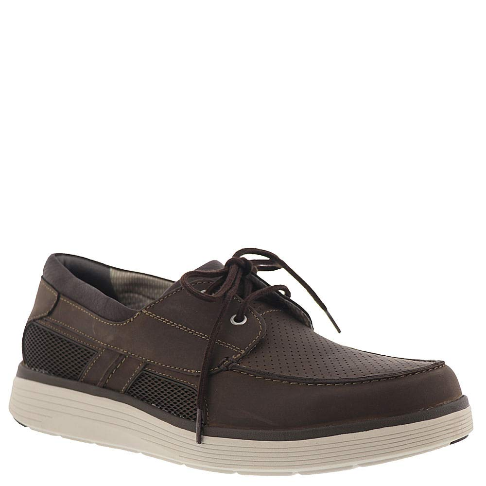 Brown Leather Clarks Men's UnAbode Step Boat shoes