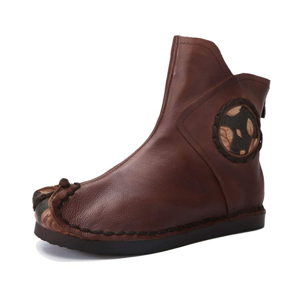 ZPEDY Vintage, Chaussures pour Confort, 18621 Femmes, Chaussons, Confort, Fermeture à Glissière, Vintage, Fond Souple, Personnalité Café d254a99 - piero.space