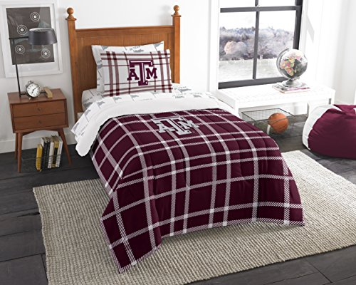 Officially Licensed NCAA Texas A&M Aggies Soft & Cozy 5-Piece Twin Size Bed in a Bag Set