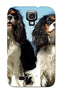 Case For Galaxy S4 Tpu Phone Case Cover(cavalier King Charles Spaniels) For Thanksgiving Day's Gift