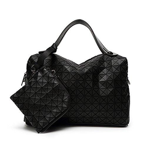 à épaule Carré Paquet Décontracté Sacs Cube D'oreiller Rhombe Style Main à Lady Couture Silicone Black Japonais Sac Diagonale Sac Pliage Main BwCHW8xq