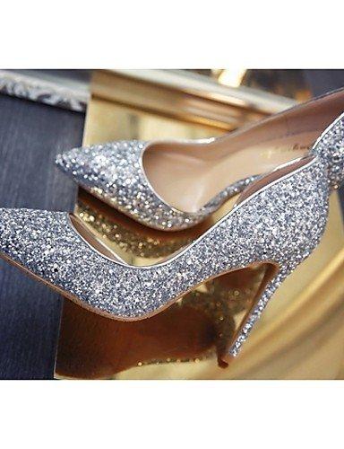 mariage Eu39 Travail chaussures talons Habillé Or Femme Ggx talon Soirée amp; Golden Bureau À us8 argent Aiguille Evénement Uk6 Cn39 Décontracté Chaussures EwXqx4CH