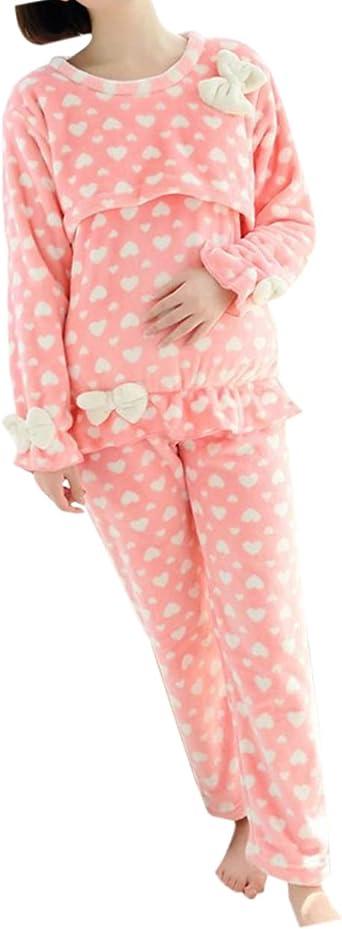 Mujer Maternidad Franela Enfermería Pijamas - Dama Embarazo ...