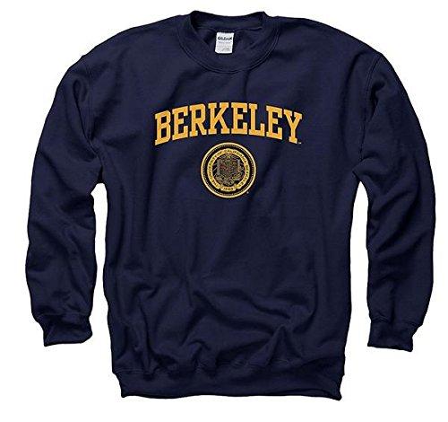 Berkeley Sweatshirt - New Agenda Men's University Of California Berkeley Arch Seal CrewNeck Sweatshirt S Navy