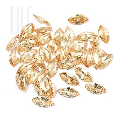 Be You Champagne Couleur Zircone Cubique AAA Qualité 2.5x4 mm Diamant Coupe Marquise Forme 500 pcs gemme