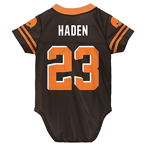Outerstuff Joe Haden NFL Cleveland Browns Home Infant Newborn Creeper Jersey (3-9M)
