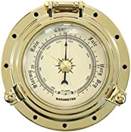 kesoto Barometer Clock Marine Nautical Weather Instrument for Boat RV SUV (Dial 960-1060 hpa)