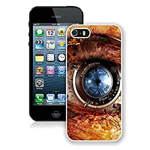 iPhone 5S Mechanical Eye Steampunk White Screen Phone Case Lovely and Popular Design