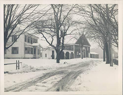 1933 Photo Sharon Reynolds Sheep Farm MA Snow Covered Ground Vintage Rare -