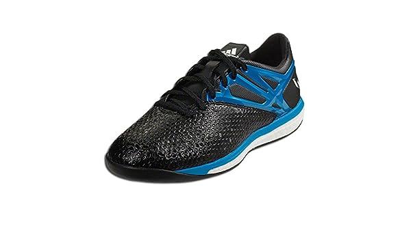 27352d59c80 Amazon.com   Adidas Shoes Messi 15.1 BOOST - BLACK SOLAR BLUE Size 9    Sports   Outdoors