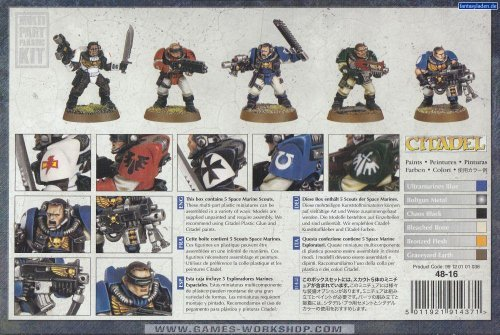 Games Workshop Space Marine Scouts Squad Warhammer 40k (Black Templar Space Marines)