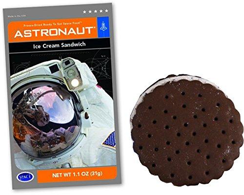 Astronaut Ice Cream 5 Packs Ice Cream Sandwich Space Food NASA Freeze Chocolate Ice Cream Sandwich