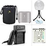 Must Have Accessories Kit For Sony Cyber-shot DSC-QX10, DSC-QX100, QX100/B DSC-QX10/W DSC-QX10/B, QX30 Smartphone Attachable Lens-style Camera Includes Replacement NP-BN1 Battery + Charger + Lens Case