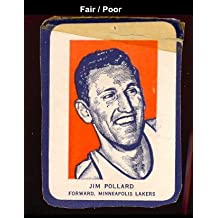 1952 wheaties regular (basketball) Card# 5 jim pollard por of the Minneapolis Lakers Fair Condition