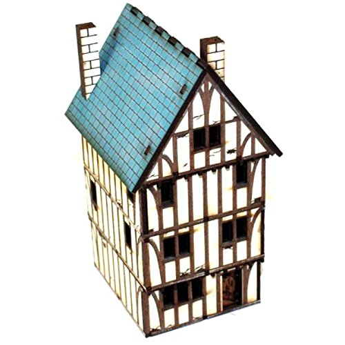 4Ground 15mm Pre Painted Game Terrain - Historic-Current - Timber Framed Dwelling