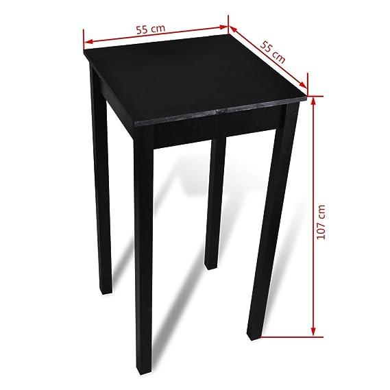 Amazon.de: vidaXL Bartisch Stehtisch Bistrotisch Esstisch Tisch ...