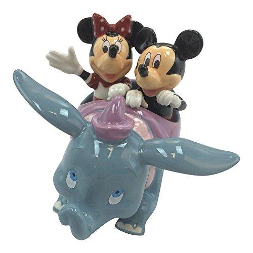 Disney Parks Mickey Minnie Mouse Dumbo Flying Elephant Ride Figurine Salt Pepper Shakers