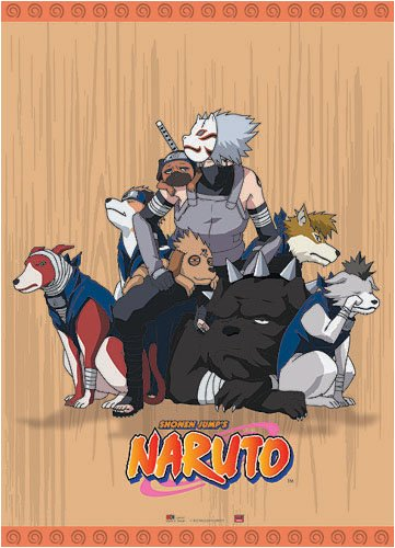 Naruto Kakashi Dogs Cloth Wall Scroll Poster GE-9701