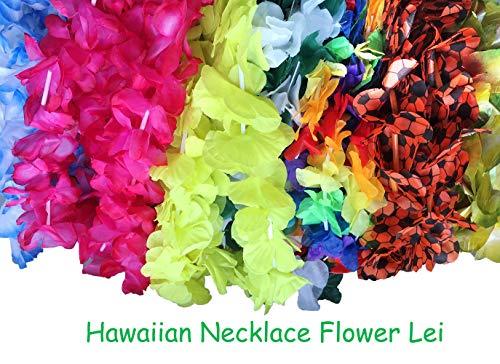 BOSHENG Tropical Hawaiian Luau Leis Necklaces Bulk 50 Count -