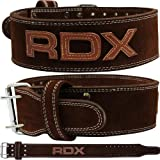RDX Cow Hide Leather Gym Weight Lifting Belt Training Nubuck Power Back Support Fitness Bodybuilding
