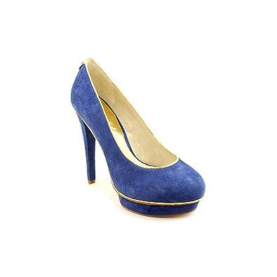 633ef78c0 Michael Kors Gideon Pump Womens Blue Suede Platforms Heels Shoes Size:  Amazon.co.uk: Shoes & Bags