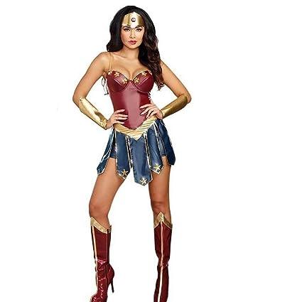 GAOJUAN Disfraz De Halloween Adulto Cosplay Superhero Wonder ...