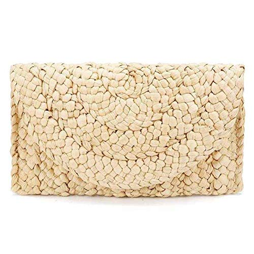 Women Straw Clutch Handbag...