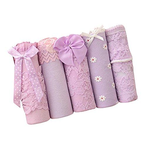 じゃない生む凶暴なkasit レディース 可愛い パンティセット5枚組 色ごとに五つ異なるデザイン対応 ショーツ フリーサイズ