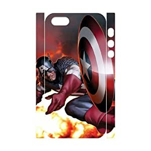 J-LV-F Cell phone Protection Cover 3D Case Captain America For Iphone 5,5S