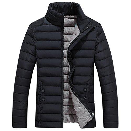 Männer - lässig, warme Kleidung, Herbst und Winter männer - Freizeit -, wärme, self-Cultivation Baumwolle gepolsterte Kleidung,schwarz,3XL